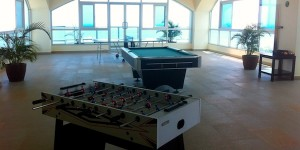 Part of the rooftop game room at Coronado Golf!