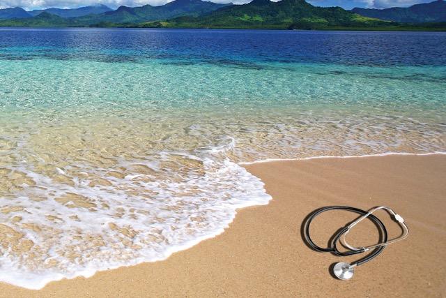 Sand ocean stethoscope