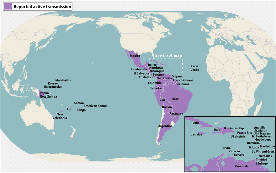 The Zika Virus And Panama - World map panama