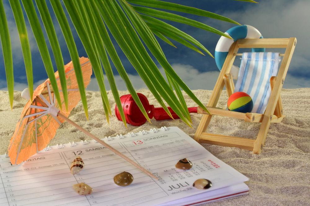 Calendar on beach