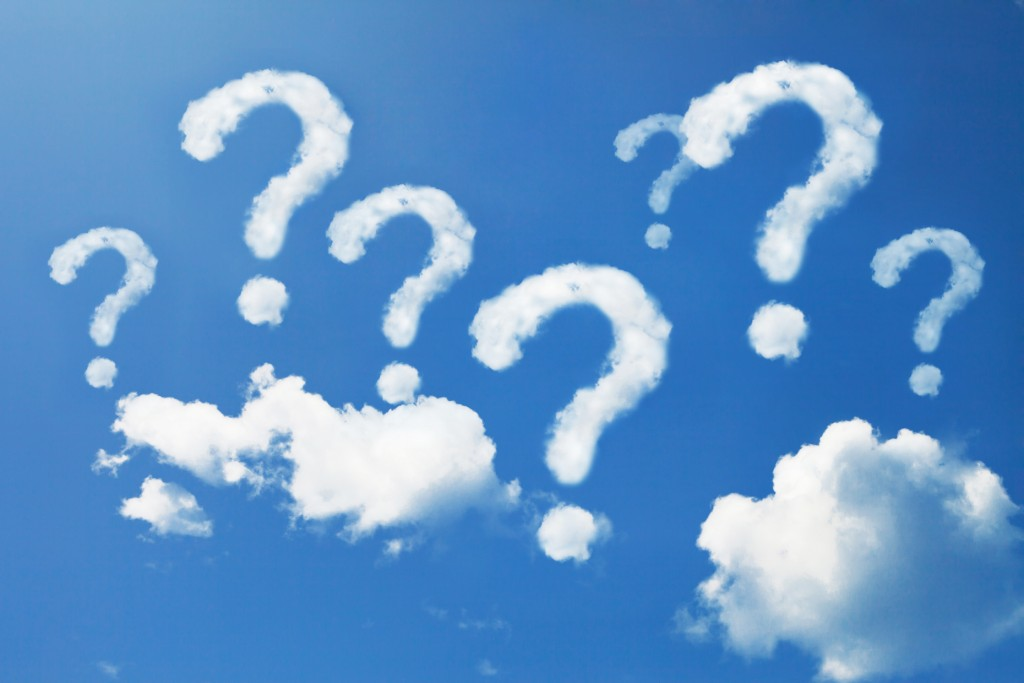 clouds sky question marks
