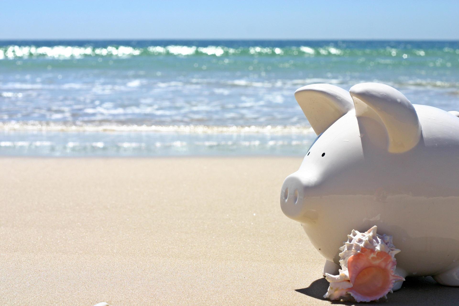 Piggybank on the beach