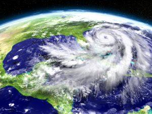 Satellite image hurricane