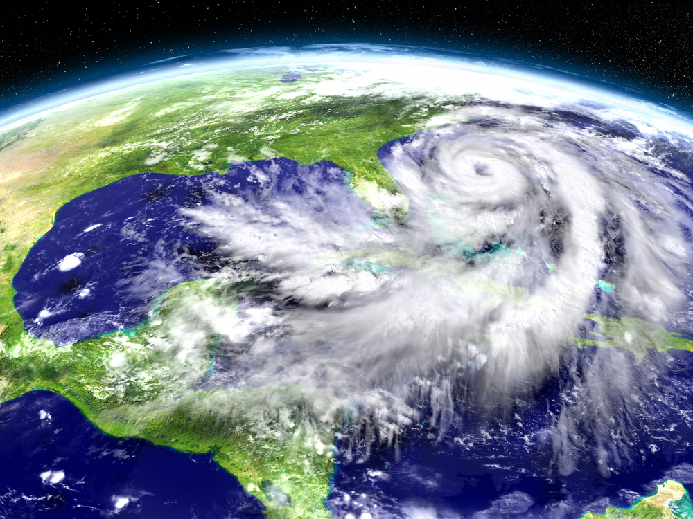 Satellite image hurricane