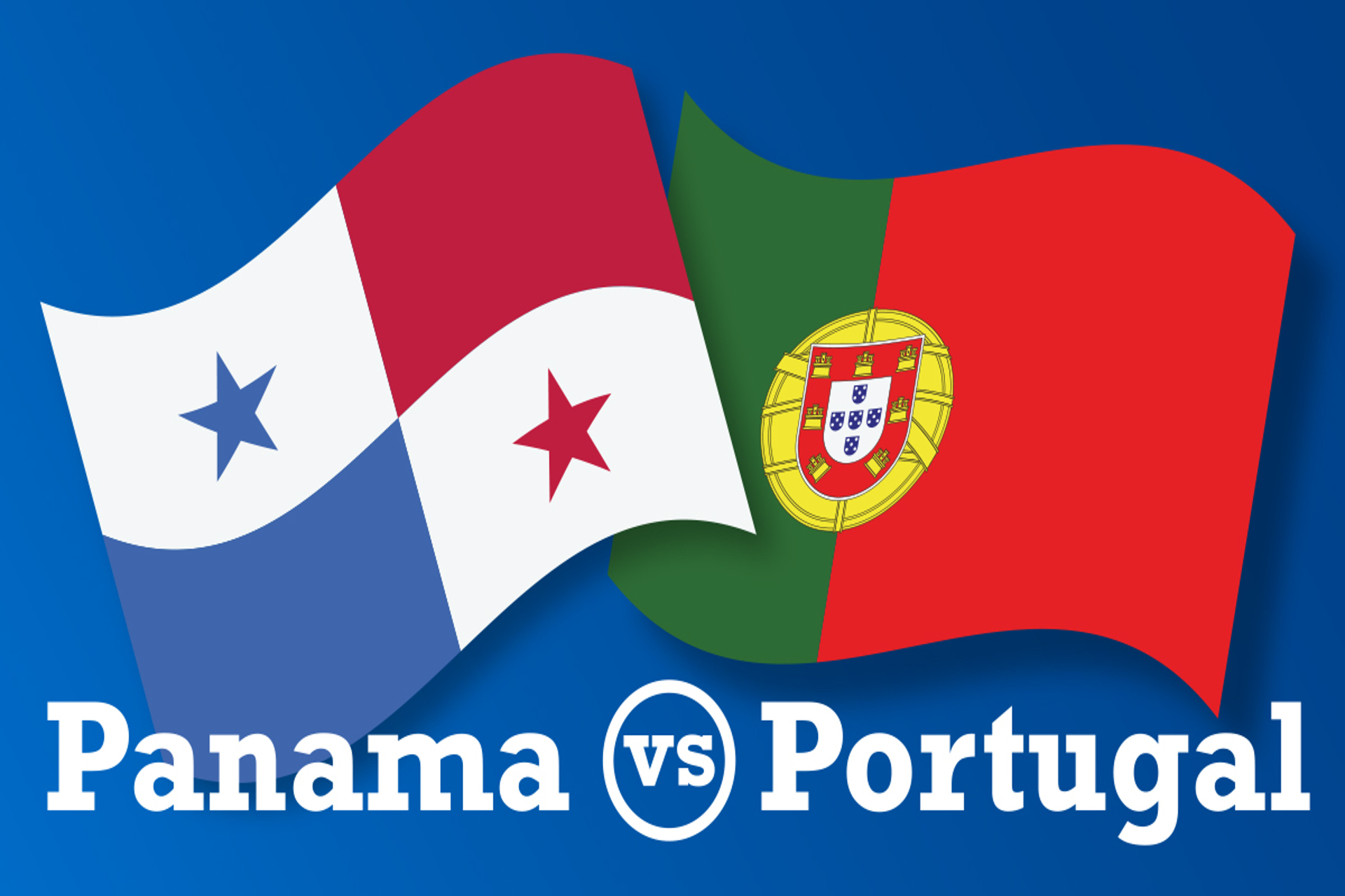 Panama and Portugal flags