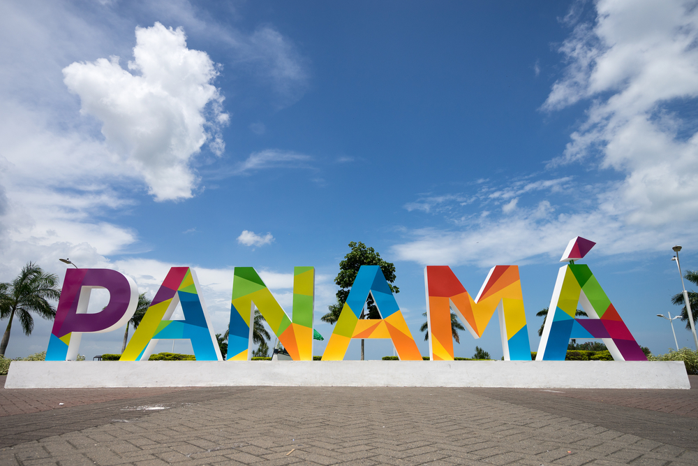 Colourful Panama sign